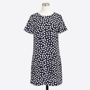J Crew Polka Dot Short Dress Size 10 NWT